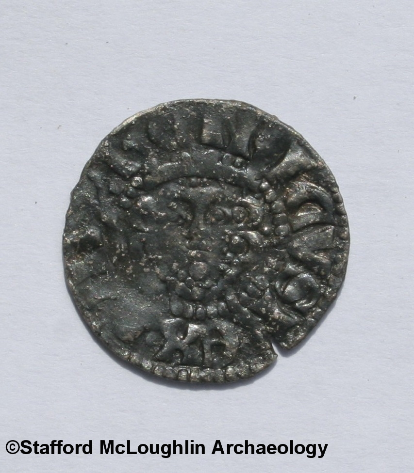 Medieval silver coin from excavations at White's Hotel
