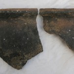 Sherds of locally produced medieval pottery called Leinster Ware