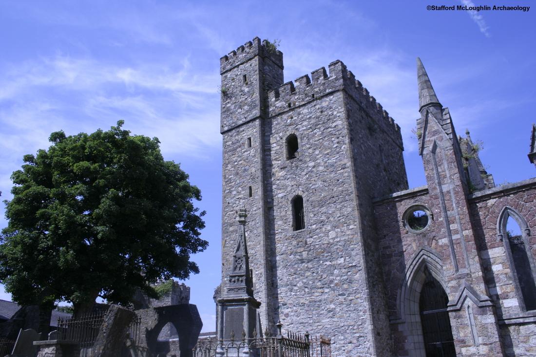 The restored tower of Selskar Abbey